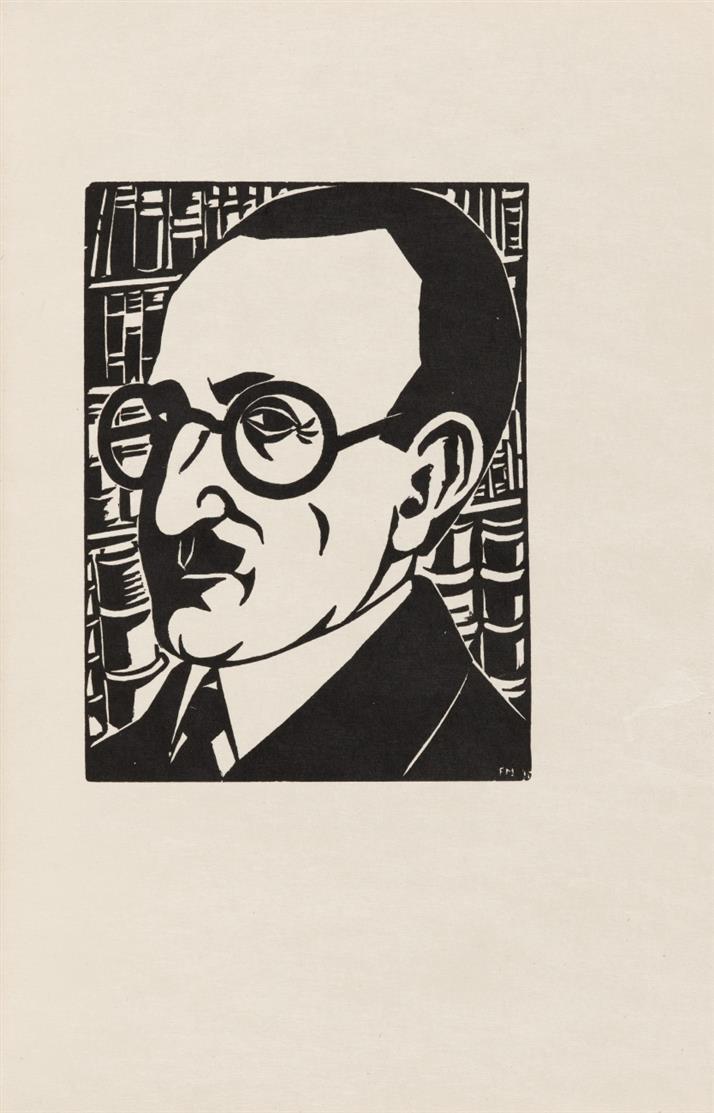 R. Arcos/ F. Masereel, Medardus. Übertr. von F. M. Zweig. Leipzig, Insel 1930. - sign. Ex. 49/50 der VA.