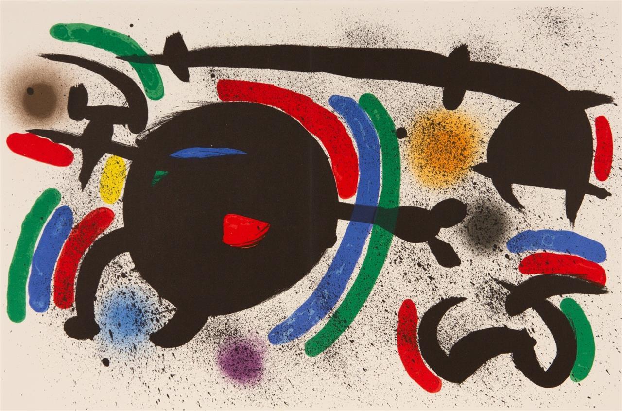 Joan Miró. Zu: Miró Lithographs I. 1972. 3 Blatt Farblithographien. Je eines von 150 nicht num. Ex. Vgl. Mourlot 864, 865, 866.