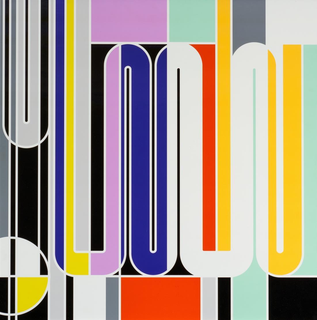 Sarah Morris. Geigy (Clips). 2011. C-Print. Rücks. auf Aufkleber signiert. Ex. 108/120. Texte zur Kunst Edition Nr. 82.