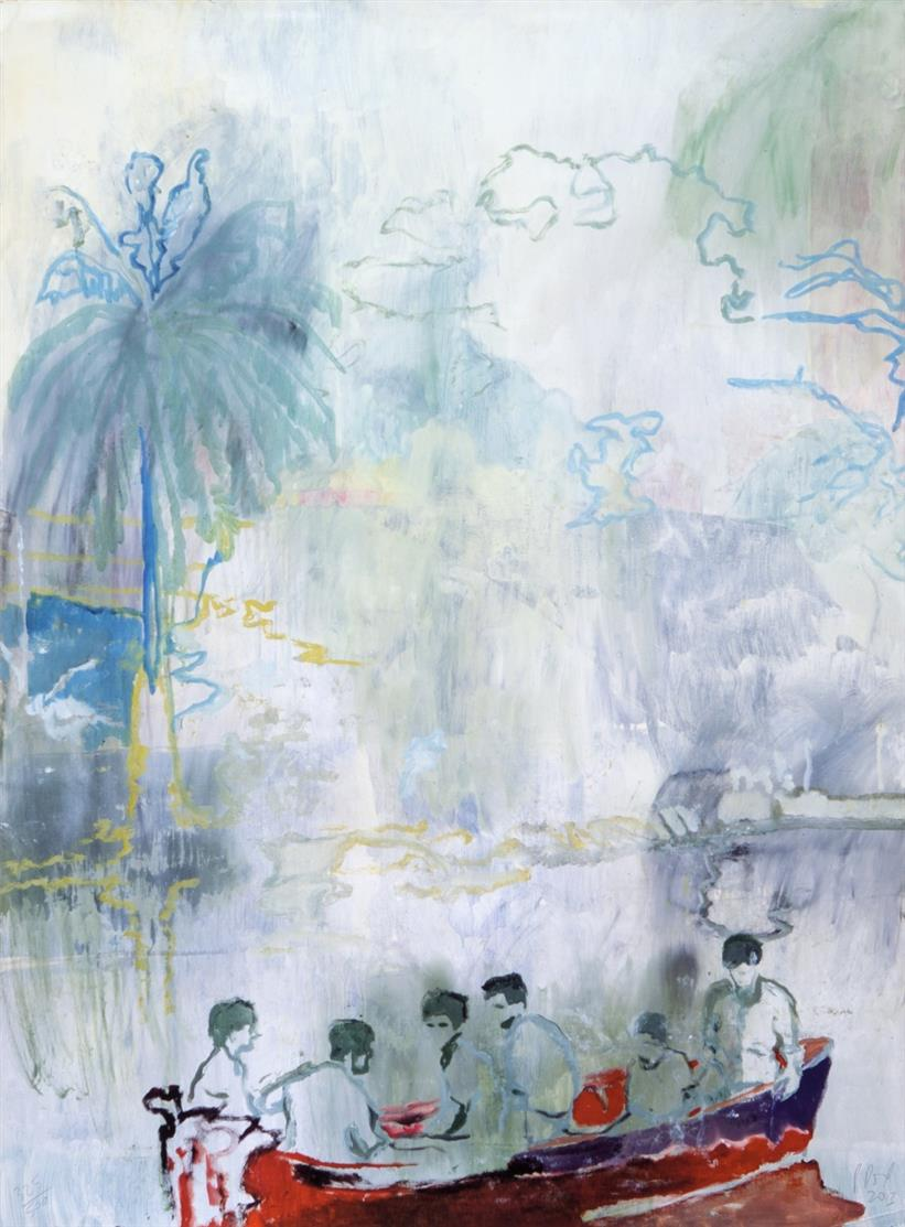 Peter Doig. Imaginary Boys. 2013. Digitaldruck Signiert. Ex. 325/500.