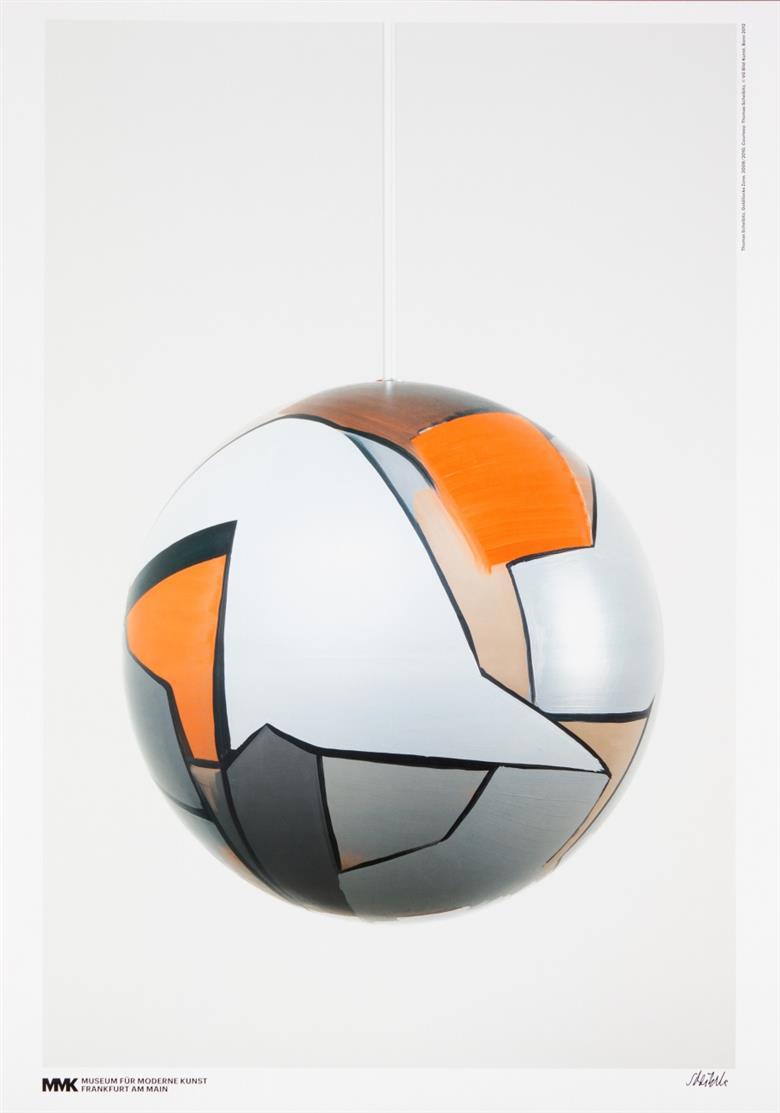 Thomas Scheibitz. Goldilocks Zone 2009/2010 / Studio 2012. 2 Farbdrucke des Museums für Moderne Kunst Ffm. Je signiert.