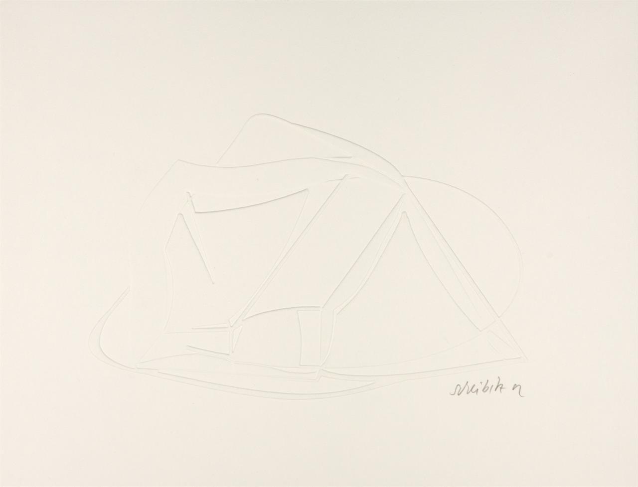 Thomas Scheibitz. Aus: Sanford. 2002. Prägedruck und Photogravure. 2 Blatt. Signiert. Griffelkunst 307 A3 - 4.