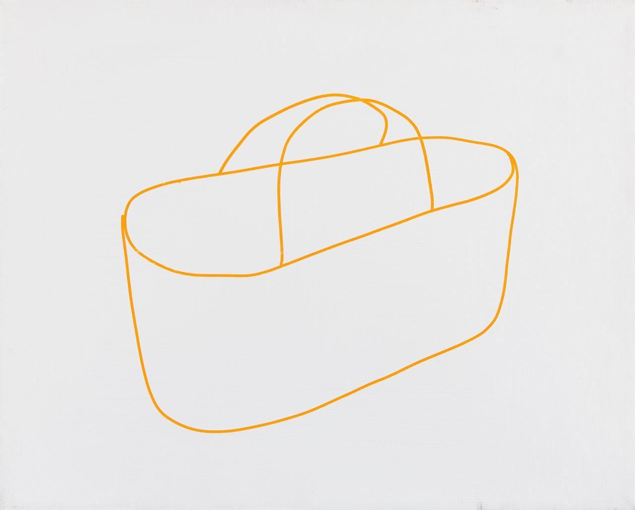 Ulrich Meister. Einkaufstasche. 10.09.09. Acryl auf Leinwand. Verso signiert und bezeichnet. + Beilage: Kat.