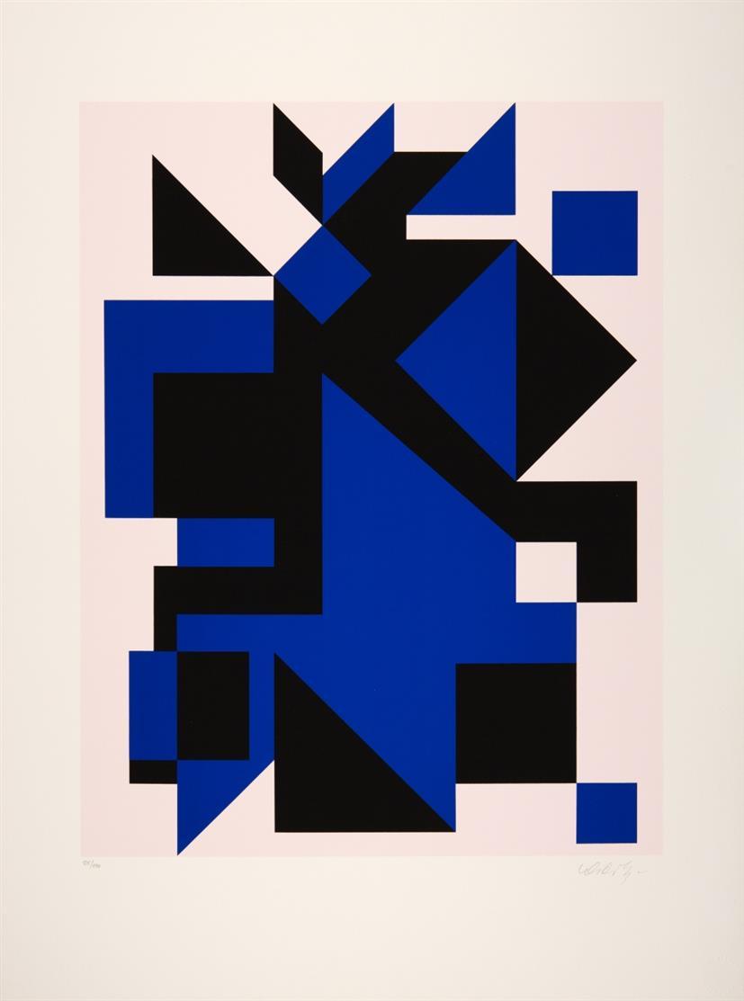 Victor Vasarely. Ohne Titel. Farbserigraphie. Signiert. Ex. 125/150.