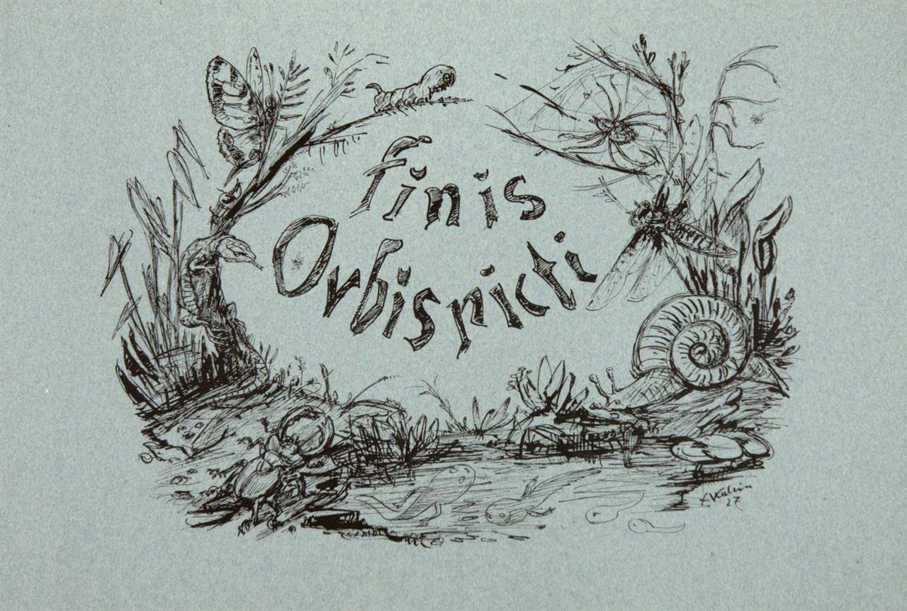 A. Kubin, Orbis Pictus. Baden-Baden 1930. - Ex. 136/300.