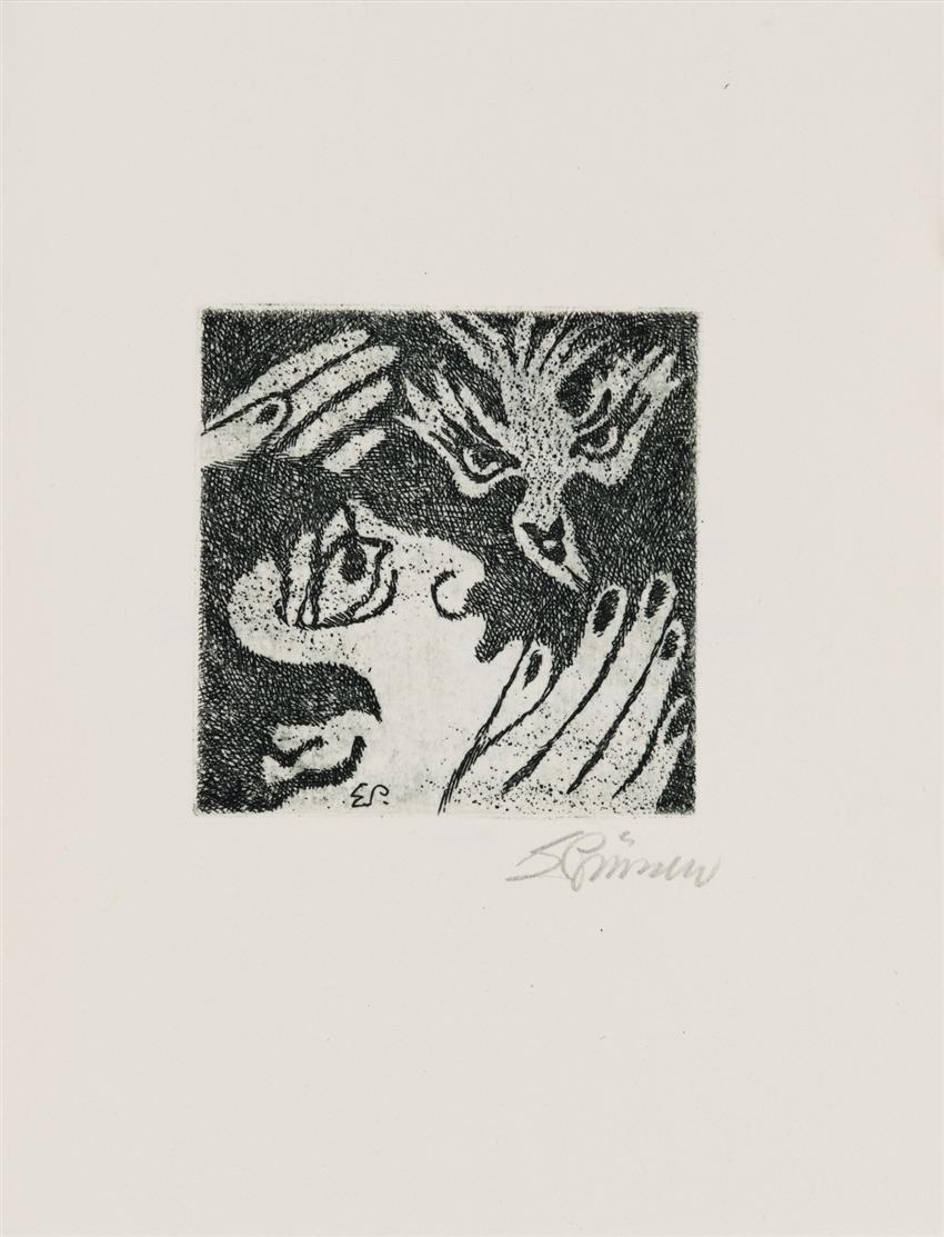 E. A. Poe / E. Prüssen, The Raven. Le Corbeau. Köln 2000. - Ex. 16/30. + Zwei Jugendgedichte. Köln 2000.  - Ex. 27/50. - Zus. 2 Bde.
