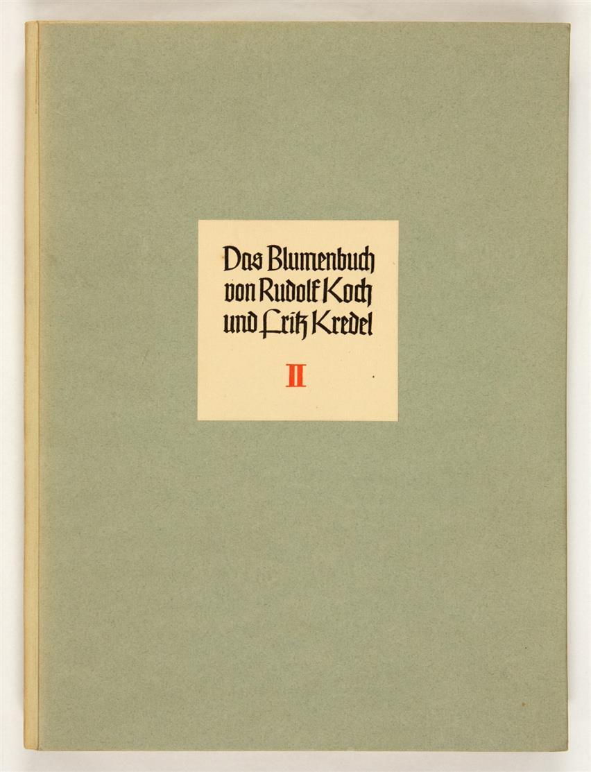 R. Koch / F. Kredel, Das Blumenbuch. 3 Bde. Mit 250 kolor. Holzschn. Lpz. 1929-30. - Druck der Mainzer Presse.