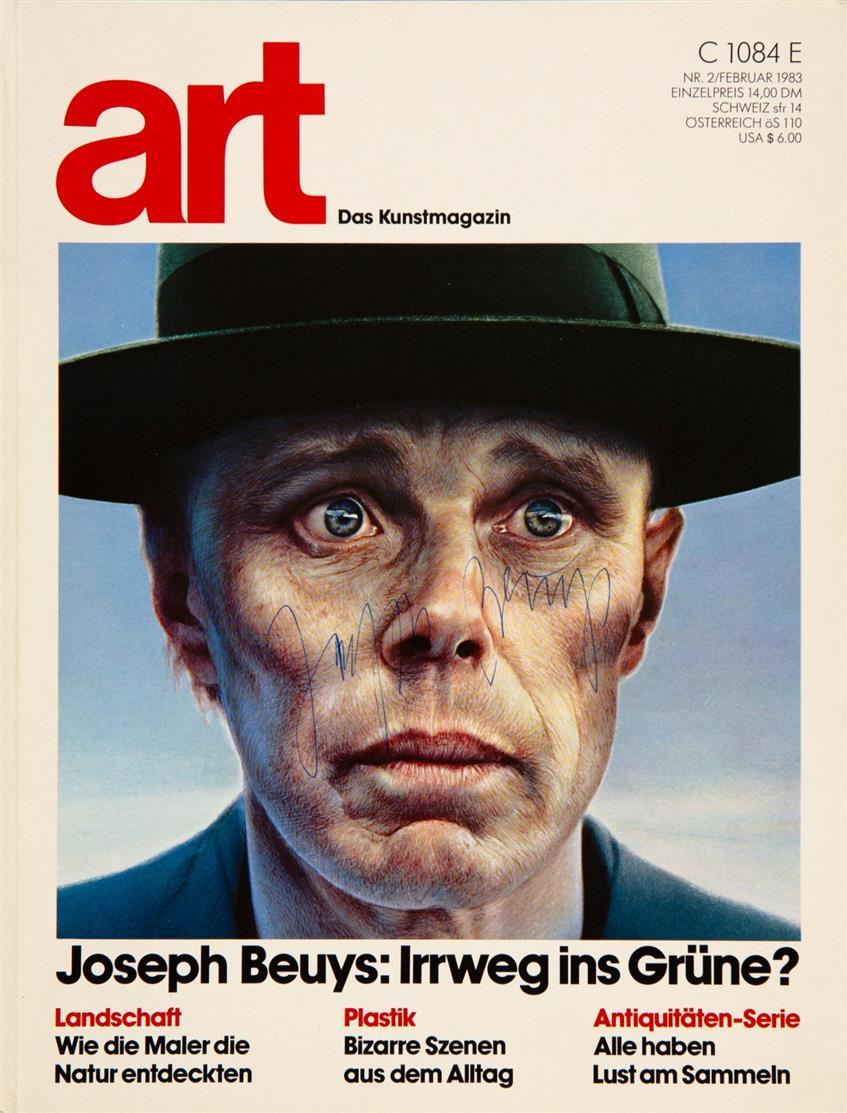 Joseph Beuys. in: Art Das Kunstmagazin. 1983. Zeitschrift. Signiert.
