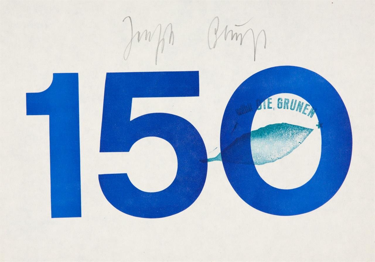 Joseph Beuys. 150. Schablonendruck. Signiert und mit Grünstempel.