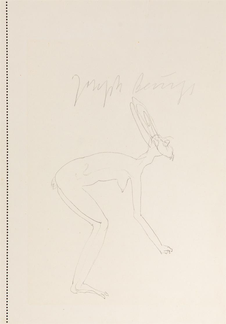 Joseph Beuys. Hasenfrau. 1985. Offset. Signiert.