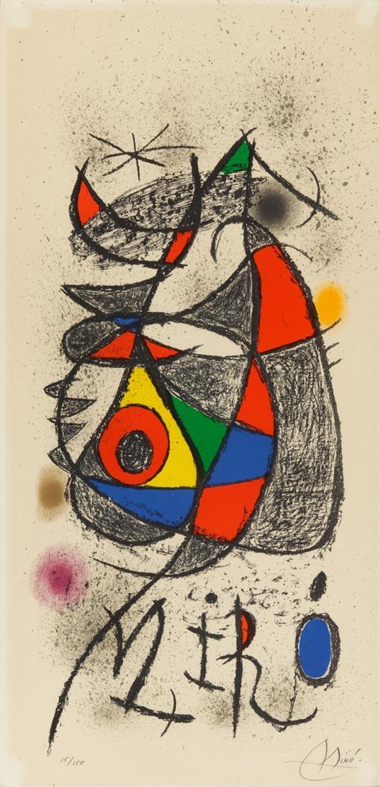 Joan Miró. Peintures, gouaches, dessins. Galerie Maeght, Zürich. 1972. Plakat vor der Schrift. Farblithographie. Signiert. Ex. 15/150. M. 841.