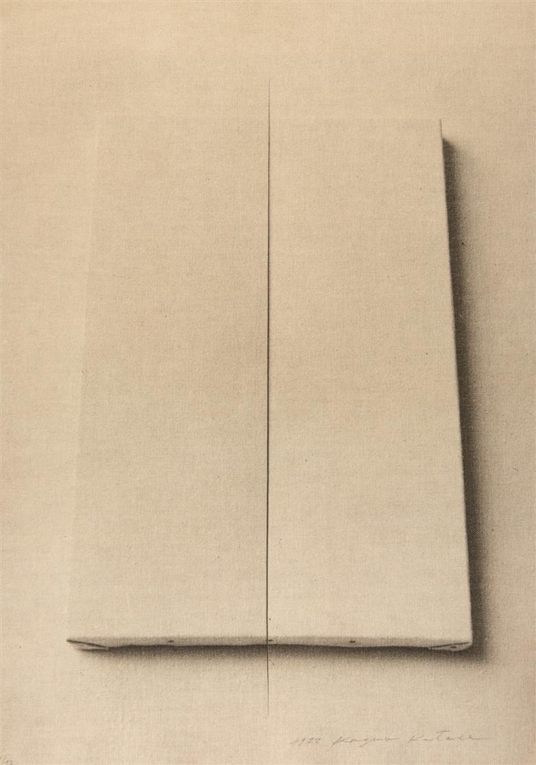 Kazuo Katase. Leinwand. 1977. Fotografie auf Leinwand. Signiert. Ex. 1/10.