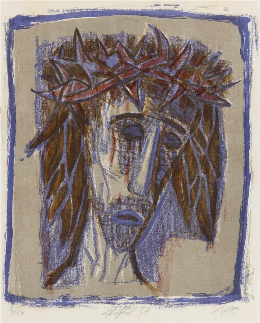 Otto Dix. Christus. 1957. Farblithographie. Signiert. Ex. 16/50. Karsch 220 II.