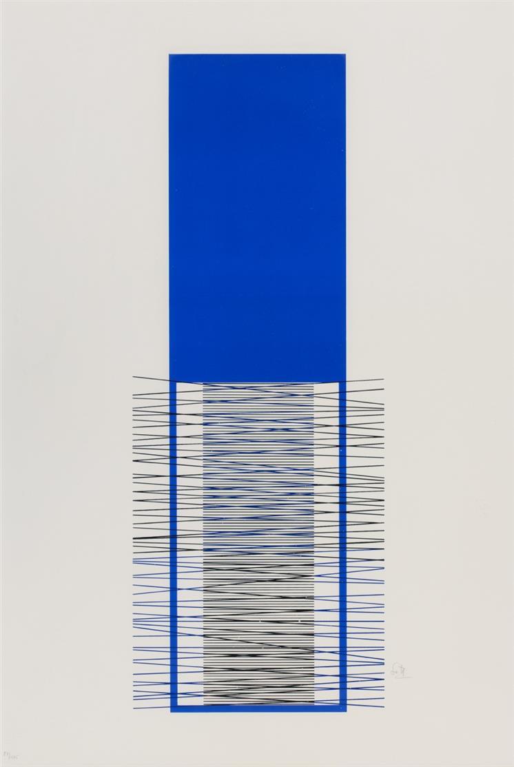 Jesus Raphael Soto. Ohne Titel. 1971. Farbserigraphie. Signiert. Ex. 87/175.