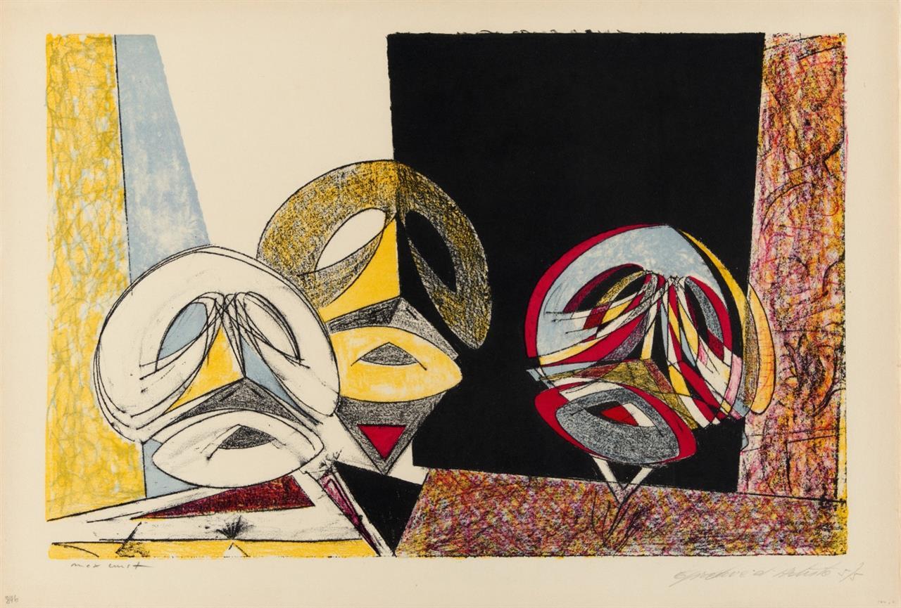 Max Ernst. Masques. 1950. Farblithographie. Signiert. Epreuve d'Artiste 5/5. SL 49 I.