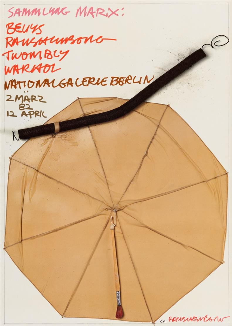 Robert Rauschenberg. Sammlung Marx Nationalgalerie Berlin. 1982. Plakat. Farboffset. Signiert.