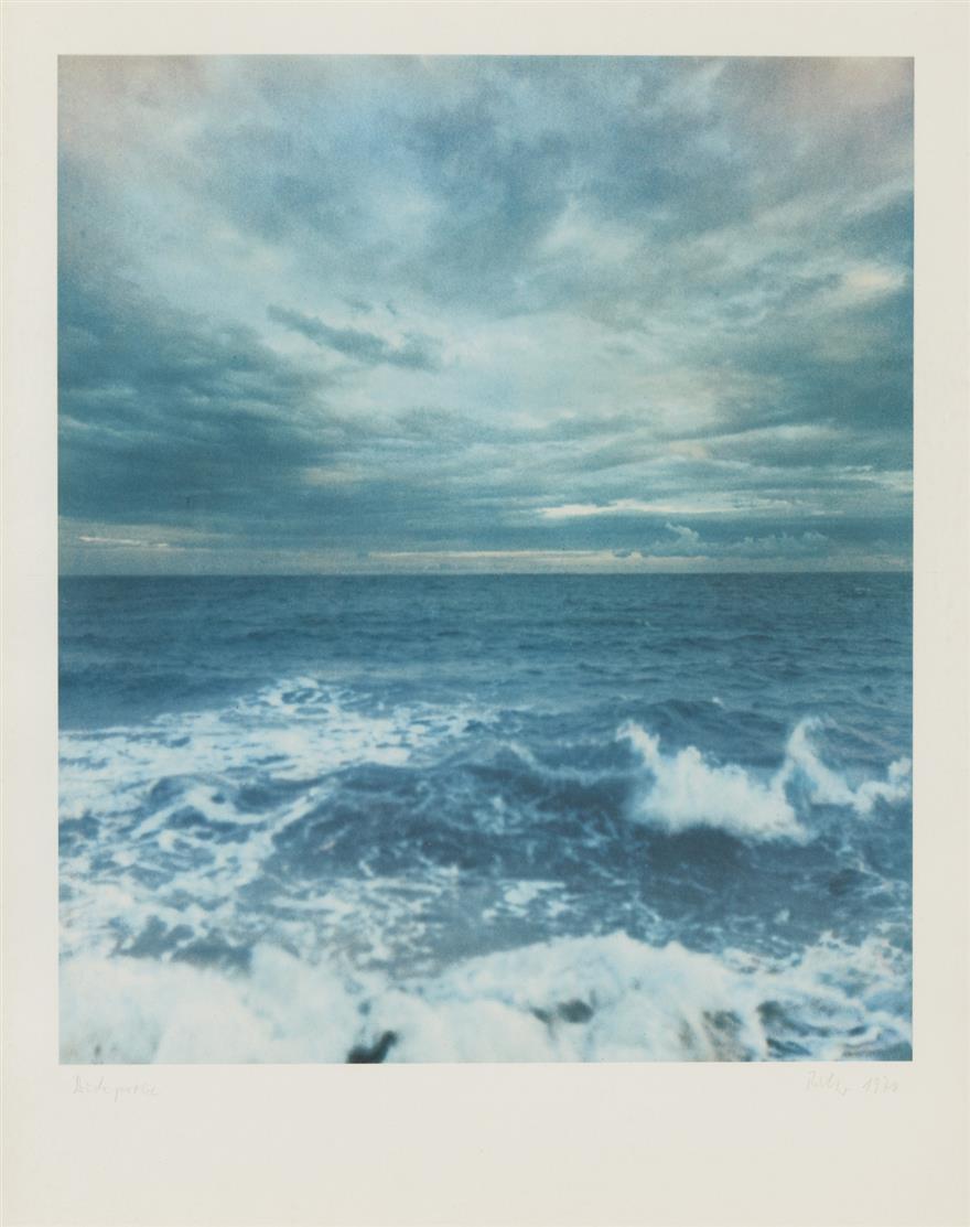 Gerhard Richter. Seestück II. 1970. Farboffset mit weißem Fond. Signiert. Druckprobe. Butin 31