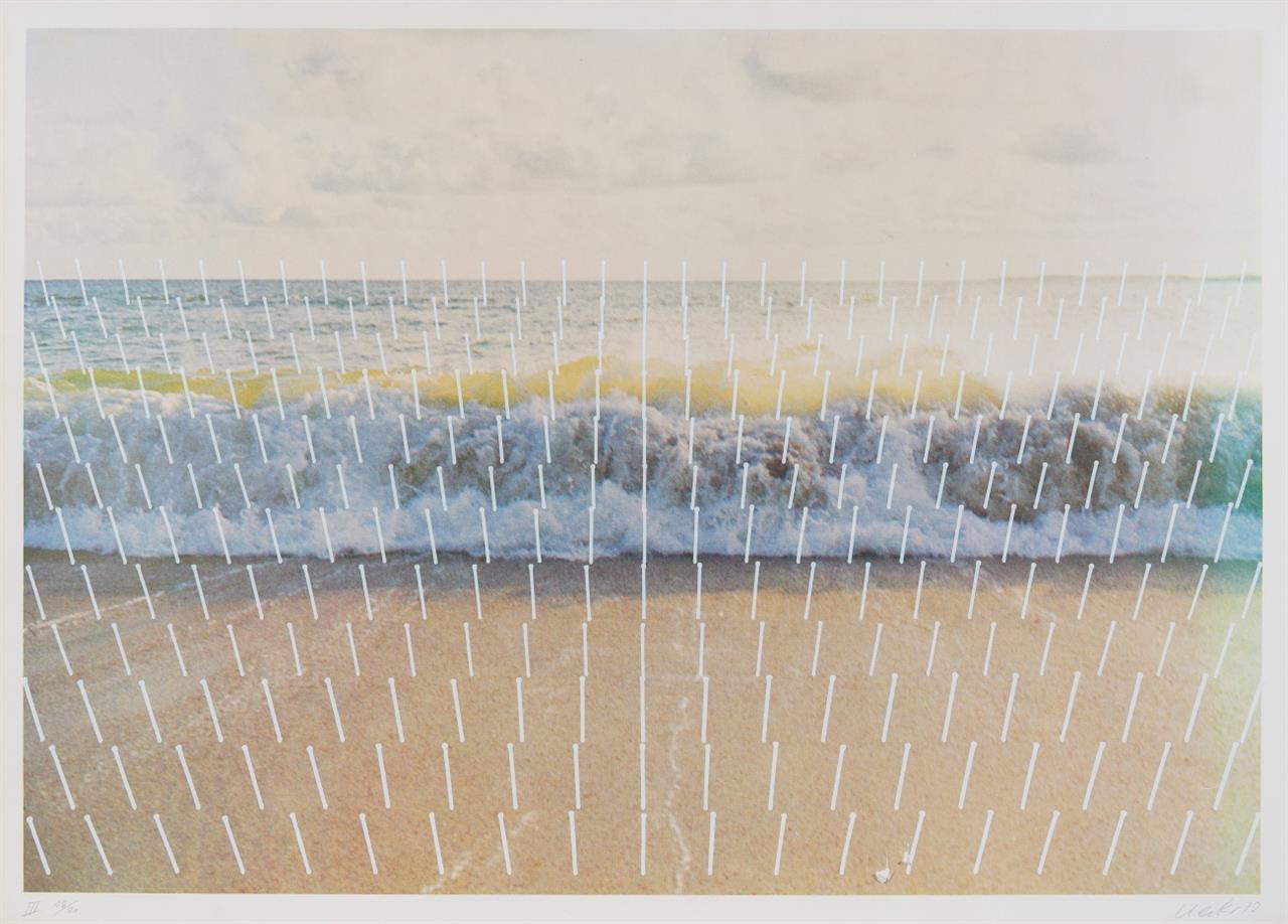 Günther Uecker. Aus: Meeresplantage - Fünf Tageszeiten. 1972. 5 Blatt Farboffsetdrucke. Jeweils signiert und römisch nummeriert I-V. Ex. 18/20.