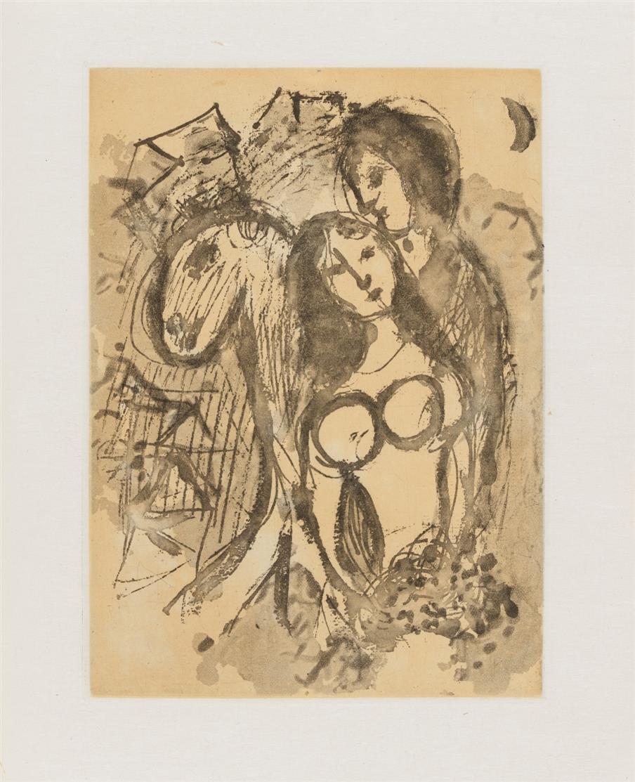 E. W. Kornfeld, Verzeichnis der Kupferstiche, Radierungen und Holzschnitte von Marc Chagall. Bd. 1 (alles), Bern 1970. Ex. 64/100 der dt. VA mit Radierung auf Japan.