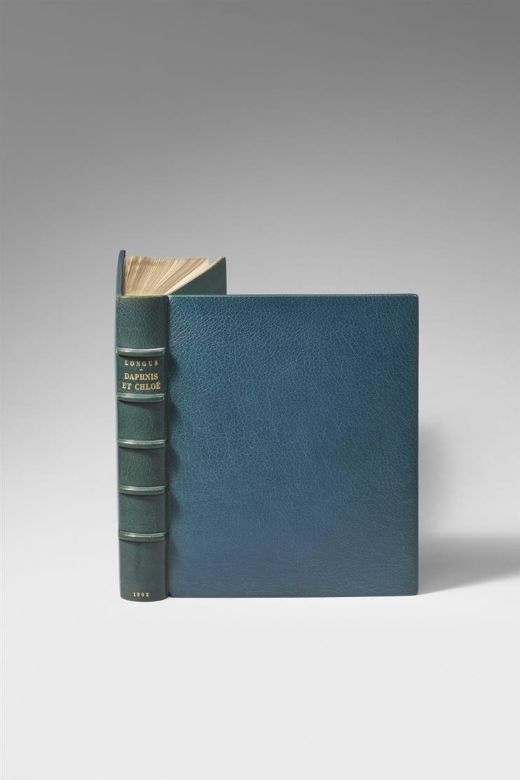 Longus / P. Bonnard, Les Pastorales ou Daphnis et Chloé. Paris 1902. - Ex. 95/200 (250). Mit zusätzl. beigebund. OrZeichnung von Bonnard.